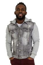 Altro giacche da uomo grigio con cappuccio