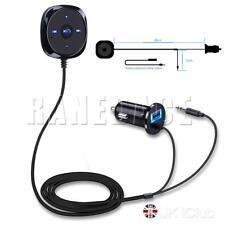 Bluetooth 4.0  Mains Libres Voiture Récepteur+Chargeur USB Pr iPhone Samsung