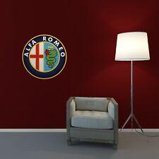 Alfa Romeo Wall Art Sticker Lounge Bedroom Garage Workshop Removable Vinyl