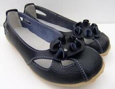 Casual Black FULL LEATHER Ladies COMFORT Ballet Flats Auyi Nodule Walk SHOES
