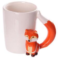 Ceramic Fox & Tail Themed Coffee Cup / Mug in Gift Box