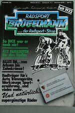 BRÜGELMANN catalogue 1987, vintage, collector, Campagnolo, Cinelli, Colnago Look