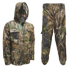 Men's Realtree Waterproof Jacket & Trousers Fishing Coat Hiking Safari M-6XL