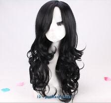 Jessica Jones Cosplay Wig long wavy curly black wig + a wig cap
