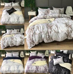 Marbled Cotton Bedding Quilt Cover Set Duvet Cover + Pillowcase EU/US/AU Size