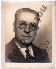 1938 MEXICO ENRIQUE GONZALES MARTINEZ WRITER NOBEL DEDICATED AUTOGRAPHED PHOTO