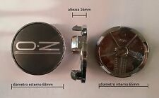 KIT 4 COPRIMOZZI CERCHI IN LEGA OZ MONACO MONTECARLO diametro 65mm NEW ORIGINALE