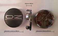 KIT 4 COPRIMOZZI CERCHI IN LEGA OZ 81310549 M670F-AZ diametro 65mm NEW ORIGINALE