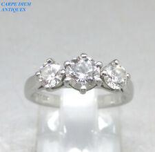 LUXURY 1.00CT VS2 E/F IGI CERTIFIED 3 STONE DIAMOND SOLID PLATINUM RING UK J