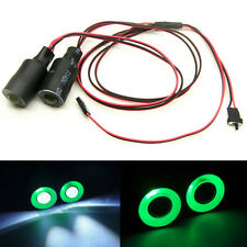 17mm Angel & Demon Eyes LED Headlight Back Light For 1/10 RC Car Green+White