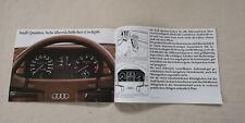 Audi quattro urquattro Typ 85 Prospekt Broschüre Pressemappe 1981