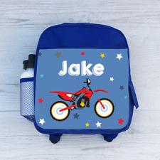 Personalised Moto GP Motorbike, Boys Kids Backpack, Childrens School Bag