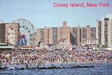 Coney Island Beach & Amusement Parks from Pier Brooklyn New York City - Postcard