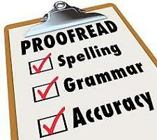 Online Proofreading & Editing Service (Limited Offer)