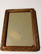 Hand Carved picture frame(Picture size:5x7;Frame size;6 1/4 x 8 1/4;Solid Wood