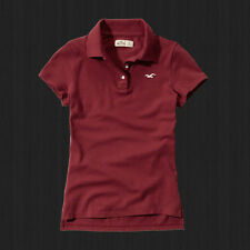 NWT Hollister By Abercrombie Women 's Tide Beach Polo Shirt Classic Fit Casual