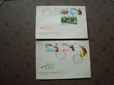 ROUMANIE 2 enveloppes 25/5/65 - Timbre Yvert et Tellier n°2126 a 2131 (cy2)