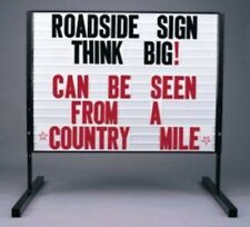 "BIG ROADSIDE 36""x48"" MESSAGE BOARD MARQUEE 2 SIDED SIGN"
