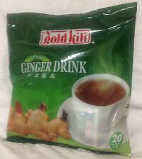 Gold Kili  All Natural Instant Ginger Tea Drink, 20 Sachets, 12.6 Oz, 360g