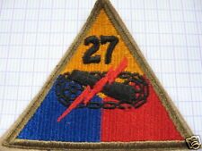 INSIGNE,PATCH,TISSUS,27th ARMORED DIVSION,U.S.,WWII