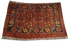 3'x5 Antique Fine Turkoman Rug Collector Caucasian Bokhara Rust' C.1930