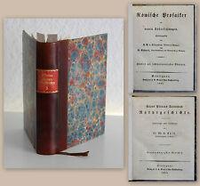 Plinius Secundus Naturgeschichte 1854 Bd.24+25 Römische Prosaiker Botanik xz