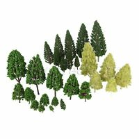 27 HO O Scale Mixed Model Trees Train Railway Architecture War Game Park Scenery