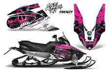 Yamaha APEX XTX Decal Wrap Graphic Kit Part Sled Snowmobile 2006-2011 FRENZY PNK