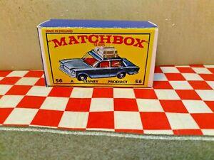 Matchbox Lesney No56  Fiat 1500 Sedan  Repro EMPTY  Box only,   NO CAR