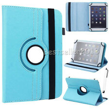 """For Samsung Galaxy 7"""" 8"""" 10"""" Tablets 360° Rotating Universal Leather Case Cover"""