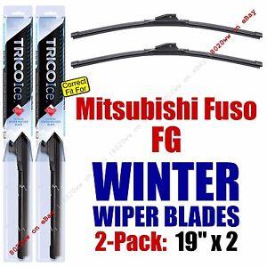 WINTER Wiper Blades 2pk Premium fit 1990-1993 Mitsubishi Fuso FG - 35190x2