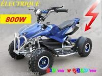 Quad électrique Enfant - COBRA 800 - 36V 800W sportif - Bleu/Noir