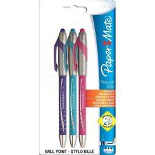 PAPER MATE FLEXGRIP ELITE penne a sfera retrattile-Colori Assortiti Divertente x 3
