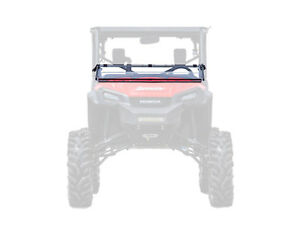 SuperATV Flip Down / Fold Out 2-IN-1 Windshield for Honda Pioneer 1000 (2016+)