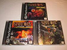 Lot of 3 Spec Ops: Covert Assault, Stealth Patrol & Ranger Elite (PS1) Complete!