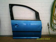 VW Caddy BJ. 03-15 Tür vorne rechs LD5W Malibu Blue mit Anbauteilen