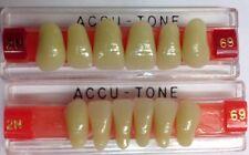 Acrylic False Teeth For Dentures. Accutone,shade69,upper & lower Anterior 2N Set