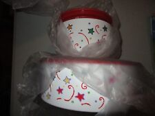 Tupperware One Touch Summer Celebration Star Canister Set and Snack Canister NIP