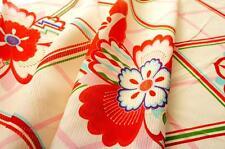 "Japanese Silk Girl's Kimono Fabric |JPI - Summer white| Vintage| 124cm(49"") |"