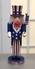 "Nutcracker Village Collection 10th Anniversary Patriotic 12"" Uncle Sam 2002"
