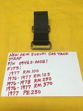 NOS SUZUKI GAS TANK STRAP RM 100,125,250,RM370,PE 250 AHRMA Vintage MX