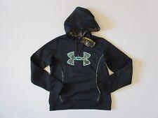 NWT Under Armour UA Storm Caliber Hoodie in Black MossyOak Pullover Sweatshirt M