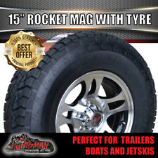 "15"" & 235/75R15 LT Tyre Rocket suit Ford Alloy Wheel Caravan Trailer Boat Jetski"