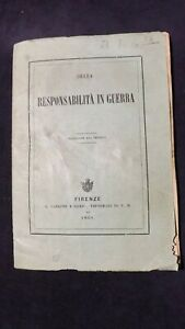 Arciduca Alberto d'Asburgo. Della responsabilità in guerra. 1869 Risorgimento
