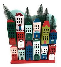 Target Threshold Advent Calendar Wooden Houses Countdown To Christmas