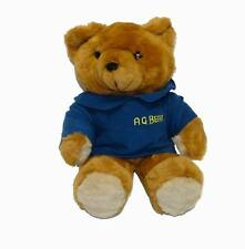 "NEW 17"" VINTAGE 1985 A.G. BROWN TEDDY BEAR STUFFED ANIMAL PLUSH TOY W/ VOICE BOX"