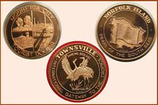 3 Different Large Bronze Tourist Dollars