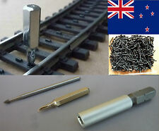 SCREWS FOR MARKLIN K-TRACK with BIT + MILLING CUTTER / POSTAGE-FREE (NZ)