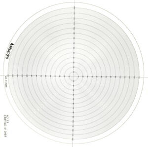 Optical Comparator Chart For Profile Projector Overlay Chart Mitutoyo 512068