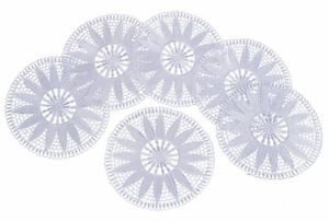 White Floral Lace Round Doily Traditional Vintage Home Table Coaster Mat 20.5cm